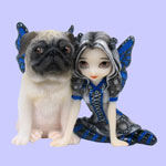 Jasmine Becket Griffith Strangeling Fairies Pug Pixie