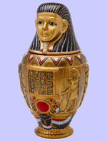 Ceramic Canopic Jar Imsety