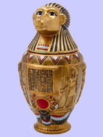 Ceramic Canopic  Jar Hapi