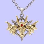 Dragon Wheel Necklace
