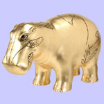 Gold Leaf Hippo