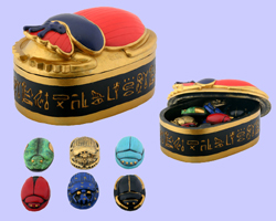 Scarab Box With Scarabs
