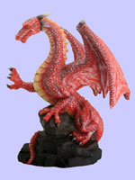 Red Dragon On Rock