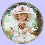Teddy bear Plate - Sandra Kuck - 100 Years of Love