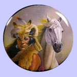 Chief Crazy Horse - Chieftains - Gregory Perillo Plate