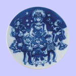 Lucia - Royal Copenhagen Children's Christmas Plate - Ingrid Jensen