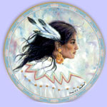 Native American Indian Art Plates - Jonnie Chardonn