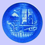 Watching The Birds - 2005 Christmas Plate - Royal Copenhagen Christmas Plate - Sven Vestergaard