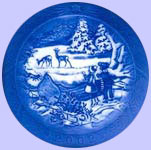 Winter in The Forest - 2005 Christmas Plate - Royal Copenhagen Christmas Plate - Sven Vestergaard